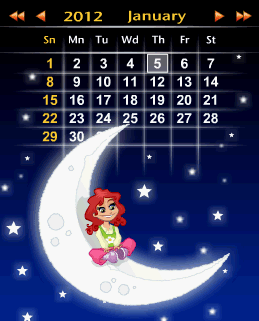 Calendar Moon flash Gadget, Communication, Lifestyle