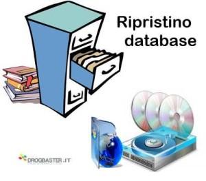 Ripristino dei database di sistema