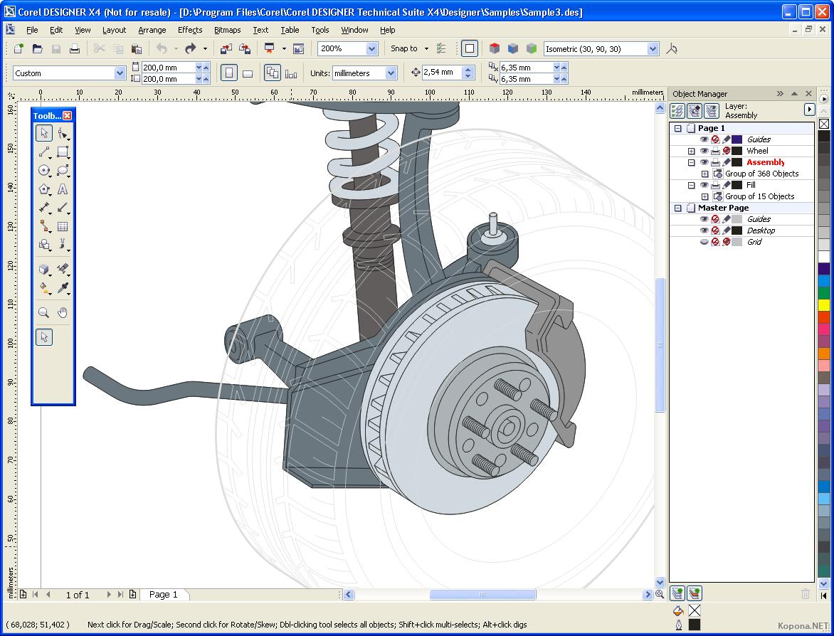 Corel designer technical progettare disegni di precisione for Programmi per disegnare in 3d gratis